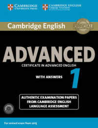 Link to an enlarged image of Cambridge English Advanced 1 for Revised Exam from 2015 Student's Book Pack (Student's Book with Answers and Audio Cds) (Paperback + Spoken Word Compact Disc)