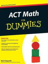 ACT Math for Dummies (For Dummies (Math ... by Zegarelli, Mark