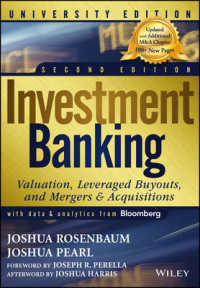 Link to an enlarged image of Investment Banking : Valuation, Leveraged Buyouts, and Mergers & Acquisitions: University Edition (2nd)