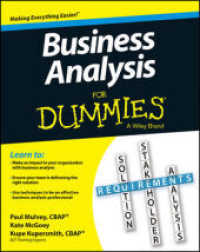 Link to an enlarged image of Business Analysis for Dummies (For Dummies (Business & Personal Finance))