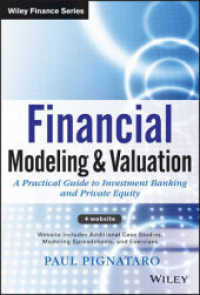 Link to an enlarged image of Financial Modeling and Valuation : A Practical Guide to Investment Banking and Private Equity (Wiley Finance) (Hardcover + Pass Code)