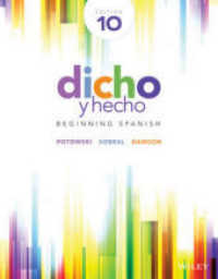 Link to an enlarged image of Dicho y hecho : Beginning Spanish (10th Bilingual)