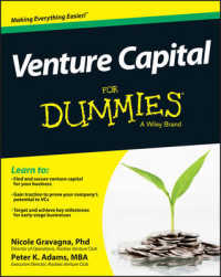 Link to an enlarged image of Venture Capital for Dummies (For Dummies)
