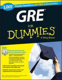 Link to an enlarged image of 1,001 GRE Practice Questions for Dummies (For Dummies) (CSM Paperback + PS)