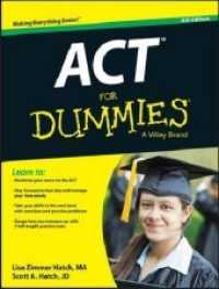 ACT for Dummies (Act for Dummies) (6th C... by Hatch, Lisa Zimmer Hatch, Scott A.