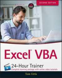 Books Kinokuniya: Excel VBA 24-Hour Trainer (2nd) / Urtis
