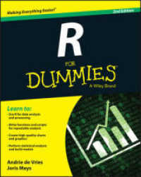 R for Dummies (For Dummies) (2nd) by De Vries, Andrie Meys, Joris