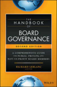 Link to an enlarged image of The Handbook of Board Governance : A Comprehensive Guide for Public, Private, and Not-for-profit Board Members (2nd)