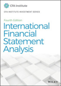 Link to an enlarged image of International Financial Statement Analysis (CFA Institute Investment) (4th)