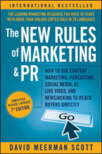 Link to an enlarged image of The New Rules of Marketing and PR : How to Use Content Marketing, Podcasting, Social Media, AI, Live Video, and Newsjacking to Reach Buyers Directly (7th)