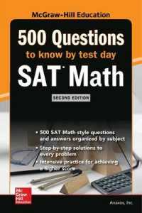 Link to an enlarged image of 500 SAT Math Questions to Know by Test Day (Mcgraw Hill's 500 Questions to Know by Test Day) (2nd)