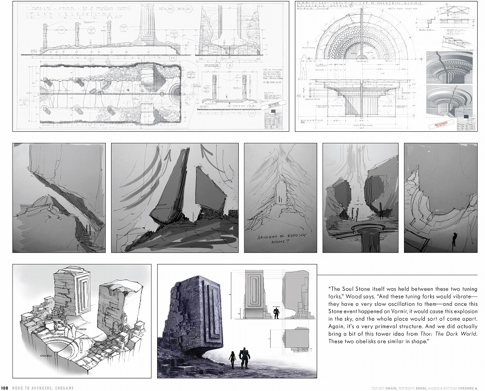 Link to an enlarged 8th image of The Road to Marvel's Avengers Endgame : The Art of the Marvel Cinematic Universe (The Road to Marvel's Avengers) (BOX)