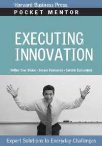 Link to an enlarged image of Executing Innovation : Expert Solutions Everyday Challenges (Pocket Mentor)