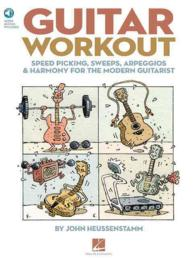 Link to an enlarged image of Guitar Workout : Speed Picking, Sweeps, Arpeggios & Harmony for the Modern Guitarist (Paperback + Spoken Word Compact Disc)