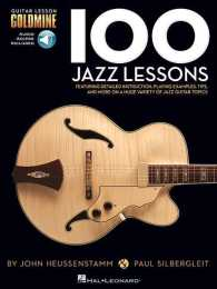 Link to an enlarged image of 100 Jazz Lessons (Guitar Lesson Goldmine) (Paperback + Spoken Word Compact Disc)