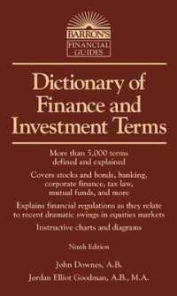 Link to an enlarged image of Barron's Dictionary of Finance and Investment Terms (Barron's Business Dictionaries) (9th)