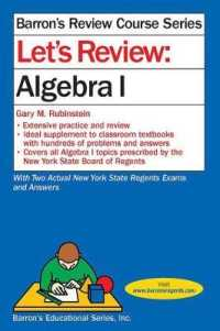Link to an enlarged image of Let's Review Algebra I (Barron's Review Course)