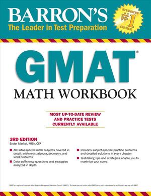 Link to an enlarged image of Barron's GMAT Math (3rd CSM Workbook)