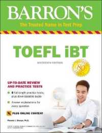 image of Barron's Toefl iBT : includes online content (Barron's Toefl Ibt) (16th Paperback + Pass Code)
