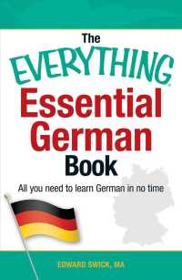 Link to an enlarged image of The Everything Essential German Book : All You Need to Learn German in No Time (Everything Series)