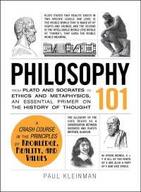 Link to an enlarged image of Philosophy 101 : From Plato and Socrates to Ethics and Metaphysics, an Essential Primer on the History of Thought (Adams 101)