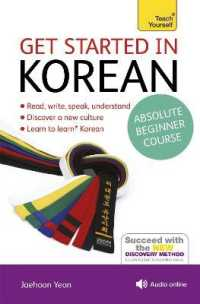 Link to an enlarged image of Get Started in Korean Absolute Beginner Course : The Essential Introduction to Reading, Writing, Speaking and Understanding a New Language (Teach Your (Paperback + Spoken Word Compact Disc)