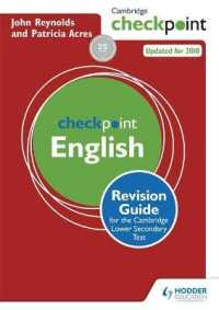 Link to an enlarged image of Cambridge Checkpoint English : Revision Guide for the Cambridge Secondary 1 Test