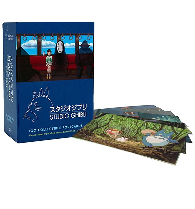 Link to an enlarged image of Studio Ghibli - 100 Collectible Postcards : Final Frames from the Feature Films (POS)