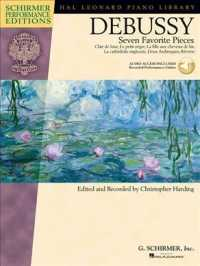 Link to an enlarged image of DeBussy : Seven Favorite Pieces: Piano (Hal Leonard Piano Library) (1st Paperback + Spoken Word Compact Disc)