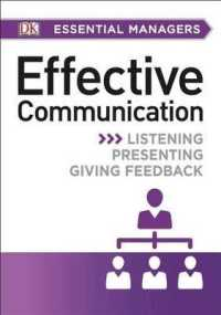 Link to an enlarged image of Effective Communication (Dk Essential Managers)