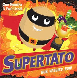 Link to an enlarged image of Supertato Run Veggies Run -- Paperback / softback