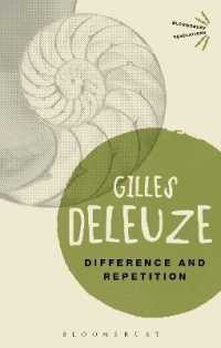 Link to an enlarged image of Difference and Repetition (Bloomsbury Revelations) (2ND)