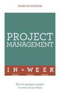 Link to an enlarged image of Project Management in a Week (Teach Yourself in a Week)