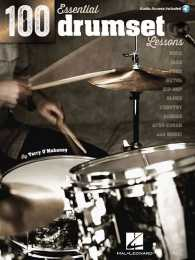 Link to an enlarged image of 100 Essential Drumset Lessons : Rock - Jazz - Funk - Metal - Hip-Hop - Blues - Country - Reggae - Afro-Cuban - and More! (Paperback + MP3)