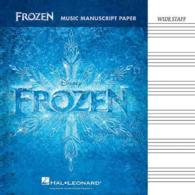 Link to an enlarged image of Frozen Music Manuscript Paper : Wide-Staff (CSM)