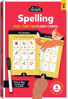Link to an enlarged image of Junior Explorers Pull And Learn Flashcards: Spelling