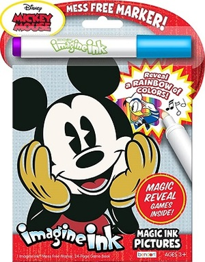 Link to an enlarged image of Imagine Ink Magic Ink Pictures: Mickey Mouse