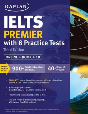 Books Kinokuniya: Kaplan IELTS Premier : With 8 Practice