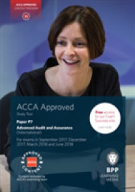 Link to an enlarged image of Acca P7 Advanced Audit and Assurance (International) : Study Text -- Paperback (6th ed.)