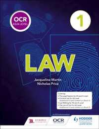 Books Kinokuniya: Ocr As/a Level Law Book 1 -- Paperback / softback