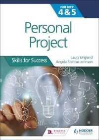 Link to an enlarged image of Personal Project for the Ib Myp, Stage 4 & 5 : Skills for Success