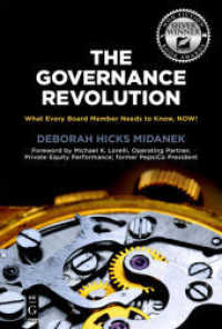 Link to an enlarged image of The Governance Revolution : What Every Board Member Needs to Know, Now!