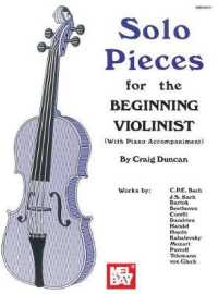 Link to an enlarged image of Solo Pieces for the Beginning Violinist
