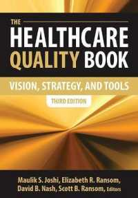 Link to an enlarged image of The Healthcare Quality Book : Vision, Strategy, and Tools (3rd)