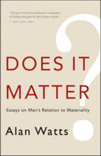 Link to an enlarged image of Does It Matter? : Essays on Man's Relation to Materiality (Reprint)