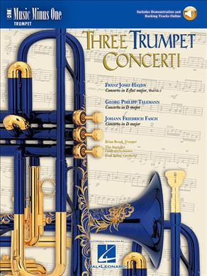 Link to an enlarged image of Three Concerti for Trumpet and Orchestra (Paperback + Spoken Word Compact Disc)