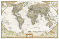 Link to an enlarged image of World Executive, Poster Size, Tubed : Wall Maps World -- Sheet map, rolled (2018th ed.)