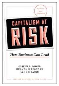 Link to an enlarged image of Capitalism at Risk : How Business Can Lead (Updated & Expanded)