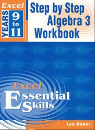 Link to an enlarged image of Excel Step by Step Algebra 3 Years 9-11 Year 9-11