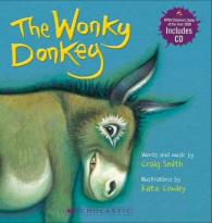 Link to an enlarged image of Wonky Donkey Board Book (with CD)